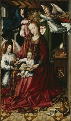 Virgin and Child Crowned With Angels (JPEG)