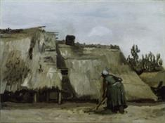 A Peasant Woman Digging in  Front of Her Cottage (TIFF)