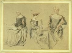 Three Studies of a Seated Woman (JPEG)